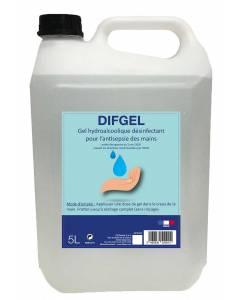 Gel désinfectant hydro-alcoolique DIFGEL 5L