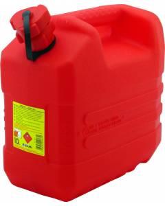 Jerrican 10L plastique rouge renforcé EDA Norme UN