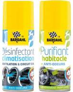 Pack nettoyant + purifiant clim 2x125 ml Bardahl (aérosol)