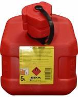 Jerrican 5L plastique rouge renforcé EDA Norme UN