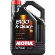Huile Motul 8100 X-CLEAN+ 5W30 5L (bidon)