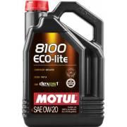 Huile Motul 8100 ECO-LITE 0W20 5L (bidon)