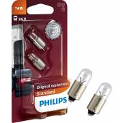 2 ampoules T4W 24V PHILIPS (blister) (13929B2)