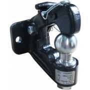 Crochet d'attelage mixte rotule + anneau 3,5T boule 50 mm