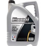 Huile moteur Exoil 0W30 C2 spéc. Ford 5L