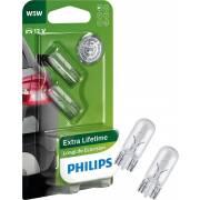 2 amp. W5W LL Ecovision 12V PHILIPS (blister) (12961LLECOB2)