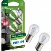 2 amp. P21W LL Ecovision 12V PHILIPS (blister)(12498LLECOB2)