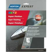 Abrasif eau 600 NORTON (3 feuilles 230x280)
