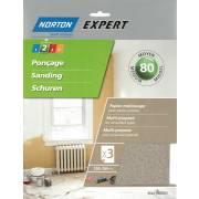Abrasif sec 80 NORTON (3 feuilles 230x280)