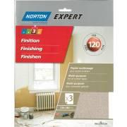Abrasif sec 120 NORTON (3 feuilles 230x280)