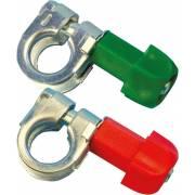 2 cosses batterie double serrage à plat +/- (blister)