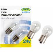 2 ampoules P21W 24V RING (blister)
