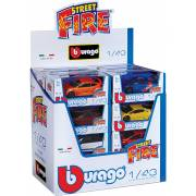 Voiture 1/43 Street fire BBURAGO (assortiment) (display)
