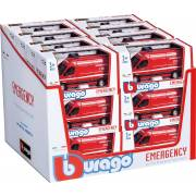 Fourgons 1/43 Emergency BBURAGO (assortiment)(display)