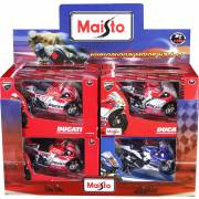 Moto 1/18 GP Racing BURAGO (assortiment) (display)