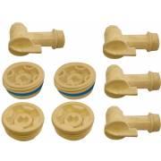 Lot robinets fûts pour adaptation position horizontale