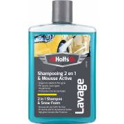 Shampooing super moussant + cire de Carnauba 475ml HOLTS