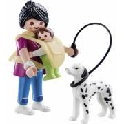 Maman avec bébé et chien PLAYMOBIL