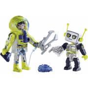 Duo Spationaute et robot PLAYMOBIL