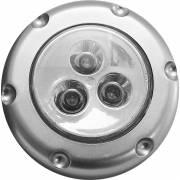 Eclairage bouton-poussoir 3 leds bleues à piles