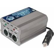 Convertisseur de tension de 24/12V, 15A + 2 prises AC