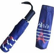 Parapluie rétractable marinière PARIS