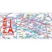 Plaques métal Plan métro 15x30 cm PARIS